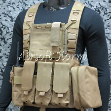 Airsoft SWAT Gear FSBE LBV Load Bearing Molle Assault Vest Coyote Brown