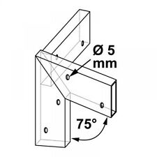 Plug in connector for Wooden slats Roof angle C 75°