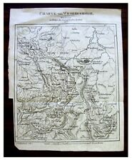1807 Map - HISTORIC WESERGEBIRGE - Weser Uplands - DE