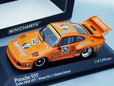 """1/43 Minichamps PORSCHE 935 #52 """"JAGERMEISTER"""" WINNER ZOLDER DRM 1977"""