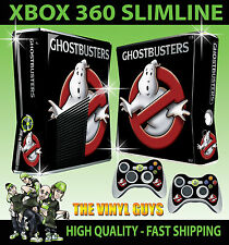 XBOX 360 SLIM STICKER GHOST BUSTERS LOGO GHOSTBUSTERS SKIN & 2 X PAD SKIN