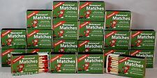 WATERPROOF MATCHES-20 BOXES OF 40+ OVER 800 MATCHES-CANNOT LIGHT ACCIDENTALLY!