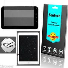"3X ZenTech Silver Glitter Screen Protector Guard Armor - 7"" Tablet MID PAD + Pen"