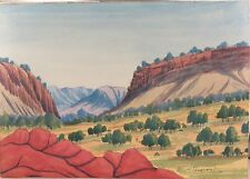 .EDWIN PAREROULTJA (1918-1986) HERMANNSBURG SIGNED WATERCOLOUR ON BOARD