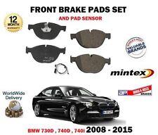 POUR BMW 730D 740D 740i 2008-2015 JEU DE PLAQUETTES FREIN AVANT DISQUE + CAPTEUR