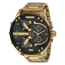 DIESEL Mr. Daddy 2.0 Black Dial Quartz Chronograph Gold Men's Watch DZ7333