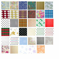 Printed Patterned Tissue Wrapping Paper luxury 5 sheets - christmas and everyday