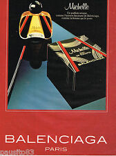 PUBLICITE ADVERTISING 055 1981  BALENCIAGA parfum femme MICHELLE