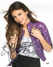 Victoria Justice Signed 11x14 Photo PSA/DNA COA Picture Autograph Victorious