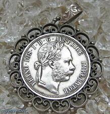Anhänger in aus Tracht 800 Silber Trachten mit Münze Anhaenger Charivari