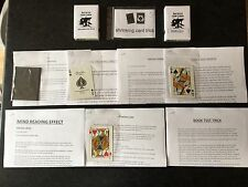BIG BUNDLE OF BICYCLE CARD MAGIC TRICKS WITH INVISIBLE DECK 1 & 2