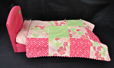 """American Girl Doll Bloom Bed Flower Quilt Mattress Pad 18"""" Doll"""