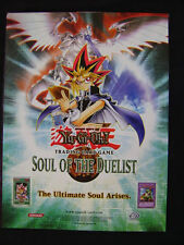 "Yu Gi Oh TCG Promotional Poster Soul Of The Duelist 24""x18"""