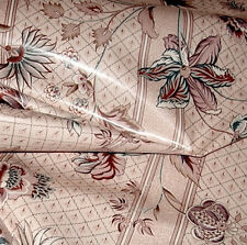 12 yds Clarence House Glazed Chintz Cotton Handprinted Drapery Upholstery Fabric