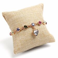 Linen Pillow Cushion Bracelet Bangle Wrist Watch Display Holder Jewelry Showcase