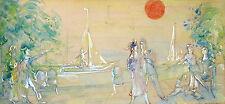 Gustav Adolf Schreiber 1889-1958 Bremen / Entwurf für ein Wandbild Aquarell 1953