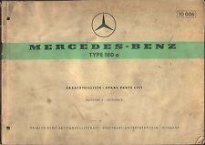 Mercedes Benz 180 un ponton 1959 original de fábrica lista De Repuestos Alemán Inglés