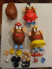 Vintage LOT of 4 Mr mrs Potato Head 1973 Hasbro 50 Pieces Total FREE SHIPPING