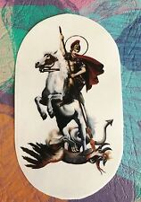 St George Fighting Dragon decal self adhesive clear transparent vinyl sticker