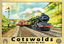 LMS Cotswolds  Rail Travel Railway  Train  Poster Print