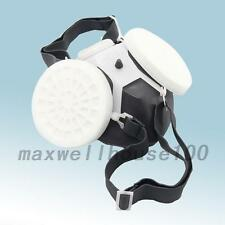 White Spray Respirator Gas Safety Anti-Dust Chemical Paint Spray Mask Tool New