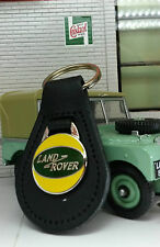 Land Rover Series 1 2 2a 3 Period Classic Quality Black Leather Keyring Keyfob