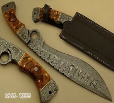 SUPERB HAND MADE DAMASCUS STEEL HUNTING KNIFE / BOWIE KNIFE / HUGE FINGER KNIFE