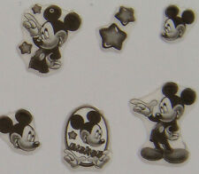 Nail Art 3D Sticker Epoxy Black&White Disney Mickey Mouse w/ Star 30pcs