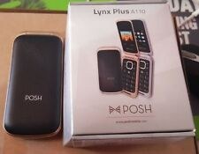 NEW Posh Lynx Plus A110a 1.8 Black GSM Tmobile Unlocked Dual Sim Flip Cell Phone