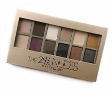 New Maybelline The 24k NUDES Eyeshadow 12 shades Palette