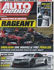 AUTO HEBDO n°1920 du 20 JUILLET 2013 GP HONGRIE 24h de SPA