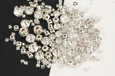 mix size 300pcs Clear Sew On sliver Claw Rhinestones Glass Crystal SewingStones