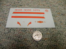 Herald King decals HO Chicago Missouri and Western Railroad fire orange   XX218