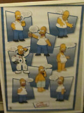 HOMER POSTER OOP  2002 RARE NEW SEALED SIMPSONS FOX