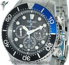 New SEIKO SOLAR PROSPEX PRO DIVERS CHRONO Stainless Steel Bracelet SSC017P1