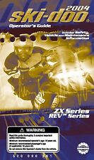 Ski-Doo owners manual book 2004 REV SDI & 2004 MX Z X 440