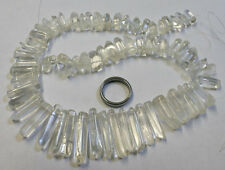 POLISHED QUARTZ ROCK CRYSTAL STONE STRAND 15IN LONG 460CT GEMSTONE MINERAL CR14