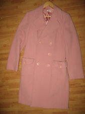 Max and Co. Womens Pink Double Breasted Wool Winter Over Coat Dress Jacket Sz 12