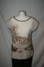 TRUCCO Ladies summer set Brown Beige (Trousers and two tops) Size EUR 42/ UK12