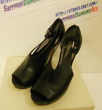 COACH Ladies Apryl Open Toe Platform Black shoes A3022 M Size 8 M ! Brand NEW!