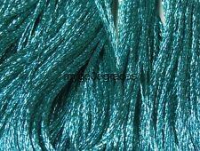 DMC Light Effects Embroidery Floss.  Color E3849 Aquamarine Blue Precious Metal
