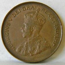 CANADA George V 1920 bronze Cent small cent-1st yr of issue; attractive brown AU
