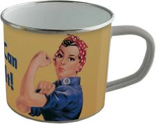 Emaille Becher - WE CAN DO IT -  BB01 emaillierte Tasse