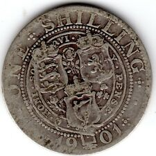 1901 12d 1s Silver ONE SHILLING twelve pence Queen Victoria Old Head (b)
