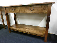 New Large Solid Mango Wood 2 Drawer Console Hall Table *Furniture Store*