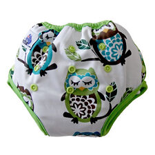 Potty Training Pants For Kids Reusable Washable Cloth paints with pocket Owl