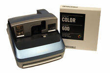 Polaroid One600 BLUE Camera with Impossible 600 Colour Film