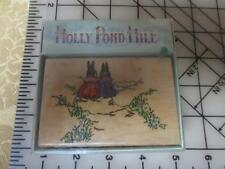 NEW Holly Pond Hill 2 lady Friends Walking Together on road rubber stamp