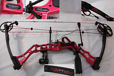 "2014 MISSION FLARE by Mathews Sparkly Pink Single Cam 50# Lbs. DL 26"" Right Hand"