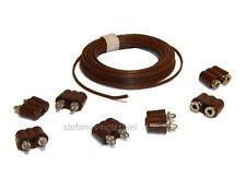 Set: 5 Stecker,2 Kupplungen, 2,5m Kabel für 3,5V Puppenhausbeleuchtung Kahlert